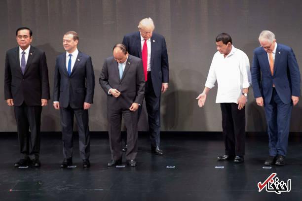 تصاویر : وضعیت ناخوشایند ترامپ در افتتاحیه نشست سران آ.سه.آن