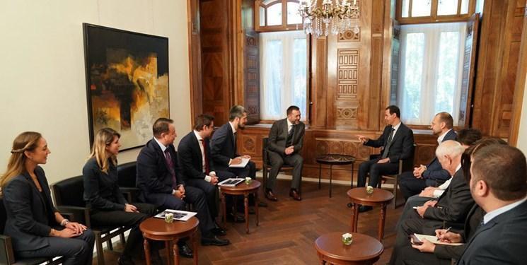 ملاقات هیأت روس با بشار اسد